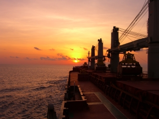 Bulker_at_sunset