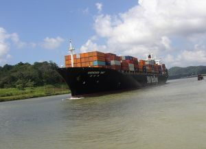 Panamax container ship